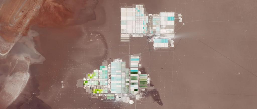 Exploração de lítio no Deserto de Atacama, Chile (Imagens NASA)