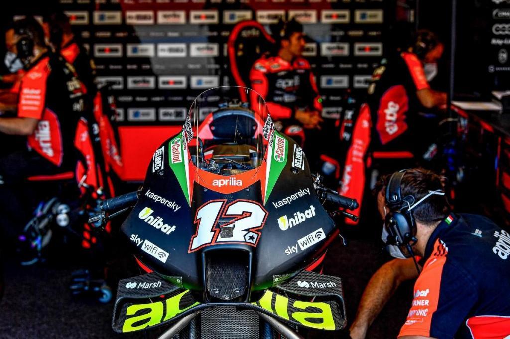 A Aprilia de Maverick Viñales (imagem MotoGP)