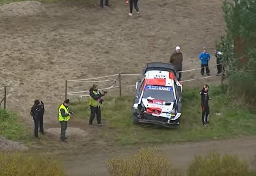 Acidente de Kalle Rovanpera no Rali da Finlândia (captura YouTube WRC)