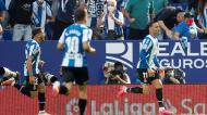 Raúl de Tomás fez o 1-0 no Espanhol-Real Madrid (Enric Fontcuberta/EPA)