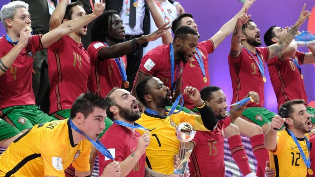 Portugal campeão do mundo de futsal (Toms Kalnins/EPA)
