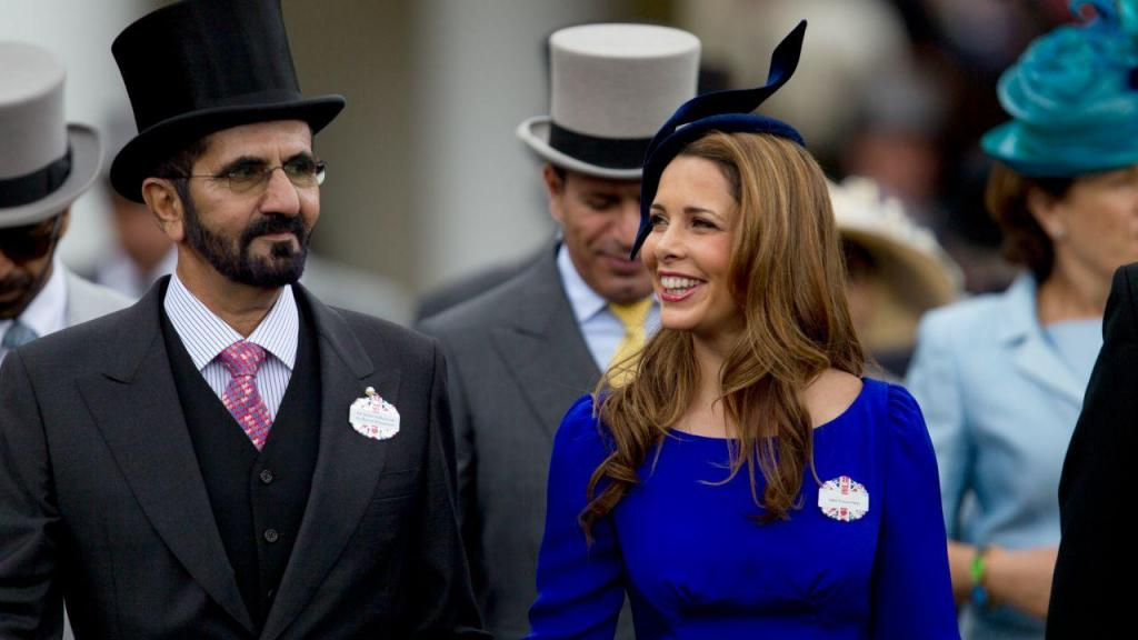 O sheikh Mohammed Al Maktoum com a mulher, a princesa Haya da Jordânia, em 2012
