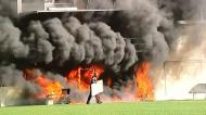 Incêndio no estádio onde Andorra e Inglaterra vão jogar este sábado