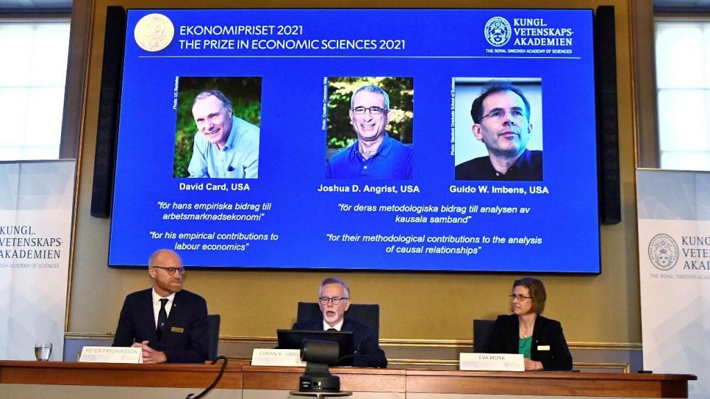 Nobel da Economia para David Card, Joshua D. Angrist e Guido W. Imbens