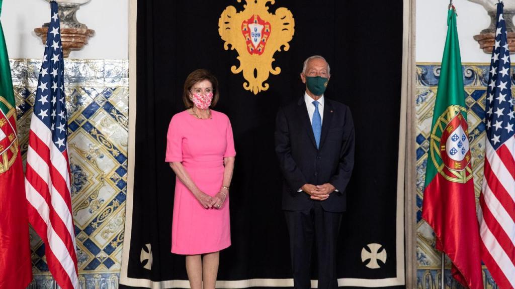 Nancy Pelosi e Marcelo Rebelo de Sousa