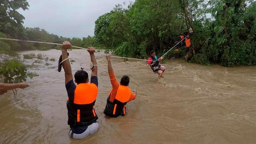 Passagem de ciclone nas Filipinas
