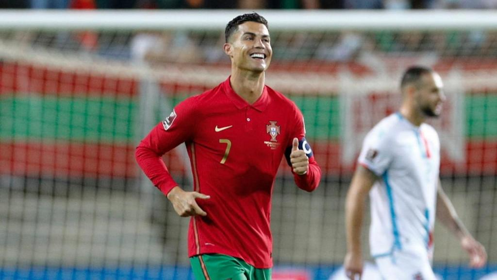 Cristiano Ronaldo festeja golo ante o Luxemburgo (António Cotrim/LUSA)