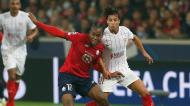 Renato Sanches e Óliver Torres no Lille-Sevilha (Michel Spingler/AP)