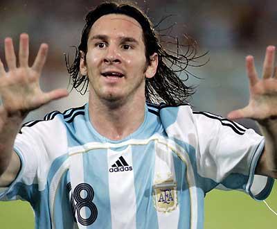 Messi, um golo de sonho na Copa América (Foto EPA)