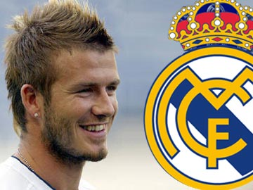 David Beckham no Real de Madrid