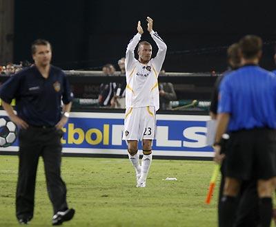 Beckham, finalmente a estreia (Foto EPA)