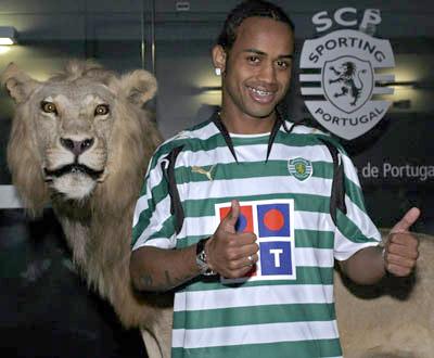 Celsinho apresentado no Sporting (foto Lusa/MIguel A. Lopes)