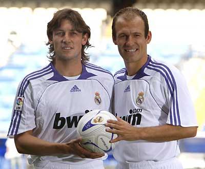 Heinze e Robben apresentados no Real Madrid