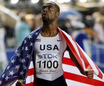 Tyson Gay vence 200 metros nos Mundiais de Atletismo