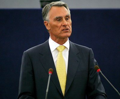 Cavaco Silva no Parlamento Eurpeu (EPA)