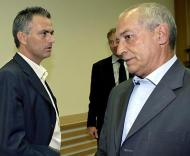 Jesualdo e Mourinho juntos em Nyon (Foto EPA)