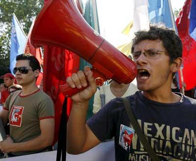 Manifestação em Lisboa (EPA/ANDRE KOSTERS)
