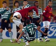 Totti e Liedson no Roma-Sporting