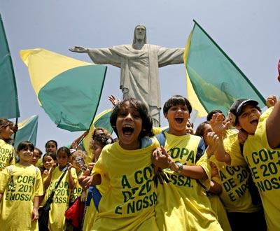 Brasil festeja o Mundial 2014 (Foto EPA)