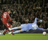 Liverpool deu 8-0 ao Besiktas. Maior goleada da história da LC (Foto: MAGI HAROUN/EPA)