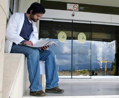 Finalistas de Medicina concretizaram boicote geral - Foto Paulo Novais/Lusa