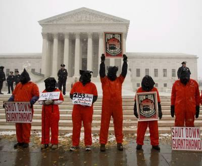 Protesto contra Guantanamo em Washington (foto Lusa)