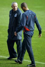 Jesualdo Ferreira e Bosingwa (Foto Lusa)