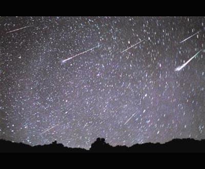 Chuva de meteoritos (foto de arquivo)