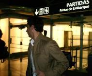 Hélder Postiga à partida para Atenas