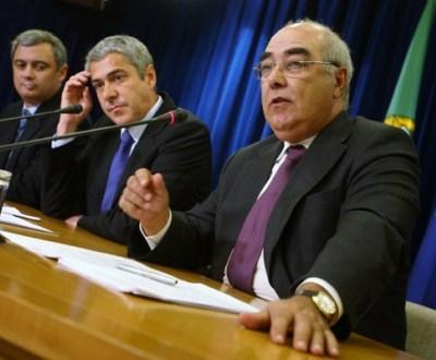 Pedro Silva Pereira, José Sócrates e Mário Lino (foto Inácio Rosa/Lusa)