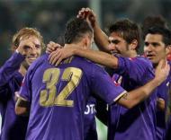 Vieri festeja golo pela Fiorentina (Foto Lusa)