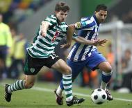 Sporting-Porto: Pereirinha com Quaresma (Foto Lusa)
