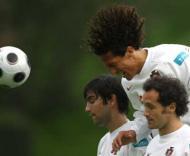 Paulo Ferreira, Bruno Alves e Ricardo Carvalho (Manuel de Almeida/Lusa)
