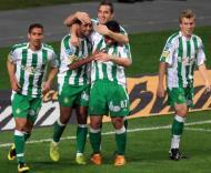 Jogadores do V. Setúbal festejam golo frente ao Sp. Braga
