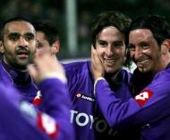 Cacia marcou e a Fiorentina eliminou o Rosenborg (EPA/CARLO FERRARO)