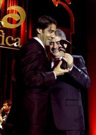 Gala do 104º Aniversário do Benfica: Rui Costa e Luís Filipe Vieira(Foto Lusa)