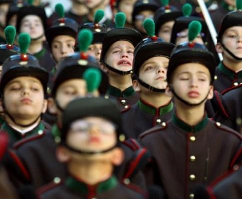 Cerimónia do 205º aniversário da fundação do Colégio Militar com a presença de Cavaco Silva (Foto Lusa)