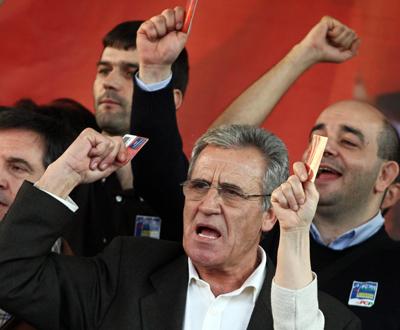 Manifestação do PCP (foto ANTONIO COTRIM/LUSA)