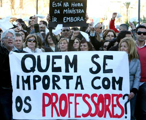 Manifestação de professores [arquivo] - Foto de Luís Forra para Lusa