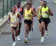 Haile Gebrselassie, na Meia-maratona de Lisboa