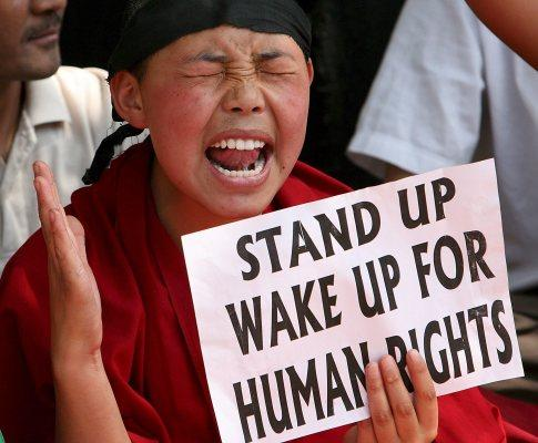 Protestos no Tibete (Foto Lusa)