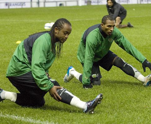 Celsinho e Liedson treinam em Glasgow